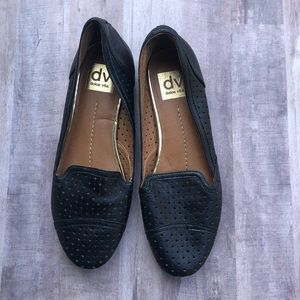 DV Dolce Vita Perforated Black Leather Flats